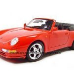 1994 Porsche 911 Carrera Cabriolet Red 1/18  Diecast Model Car by Bburago