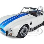 Shelby Cobra 427 S/C White With Blue Stripes 1/18 Diecast Model Car by Kyosho