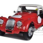 Morgan 4/4 Red with White Top & Side Curtains 1/18 Diecast Car Model by Kyosho