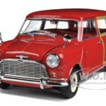 Morris Mini Traveller Red RHD 1/18 Diecast Model Car by Kyosho