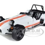 Caterham Super Seven 7 JPE Cycle Fender White With Orange Stripe 1/18 Diecast Model Car by Kyosho