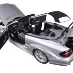 Mercedes CLK DTM AMG Convertible Silver 1/18 Diecast Model Car by Kyosho