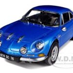 1974 Renault Alpine A110 1600SC Blue 1/18 Diecast Car Model by Kyosho