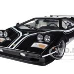 Lamborghini Countach LP500R Black 1/12 Diecast Car Model by Kyosho