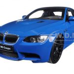 BMW M3 (E92) Laguna Seca Blue 1/18 Diecast Model Car by Kyosho