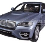 BMW X6 Active Hybrid Blue Water Metallic 1/18 Diecast Car Model by Kyosho