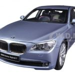 BMW 7 Series Active Hybrid Light Blue 1/18 Diecast Car Model by Kyosho