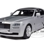 Rolls Royce Ghost SWB LHD Silver 1/18 Diecast Car Model by Kyosho