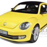 2012 Volkswagen New Beetle Sun Flower Yellow 1/18 Diecast Model Car by Kyosho