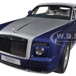 Rolls Royce Phantom Drophead Coupe Metropolitan Blue 1/18 Diecast Car Model by Kyosho