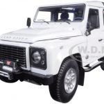 1984 Land Rover Defender 90 Fuji White 1/18 Diecast Car Model by Kyosho