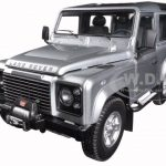 1984 Land Rover Defender 90 Indus Silver 1/18 Diecast Model Car by Kyosho