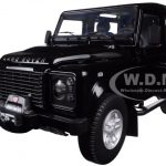 1984 Land Rover Defender 90 Black 1/18 Diecast Car Model by Kyosho