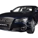 Audi A8 L W12 Night Blue 1/18 Diecast Car Model by Kyosho