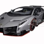 Lamborghini Veneno Grey with Red Line 1/18 Diecast Model Car by Kyosho