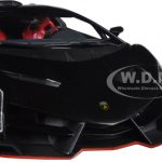 Lamborgini Veneno Black With Red Line 1/18 Diecast Model Car by Kyosho