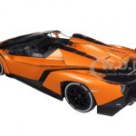 Lamborghini Veneno Roadster Orange 1/18 Diecast Model Car by Kyosho