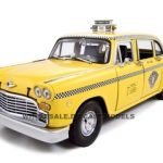 1981 New York Checker Cab Taxi 1/18 Diecast Model Car by Sunstar