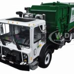 Mack TerraPro Waste Management Garbage Truck with Side Load Refuse with Carts 1/34 Diecast Model  by First Gear