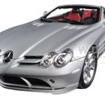 2007 Mercedes SLR McLaren Roadster Grey Metallic 1/18 Diecast Model Car by Minichamps