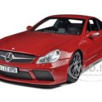 2009 Mercedes SL65 AMG Black Series (R230) Red 1/18 Diecast Model Car by Minichamps