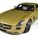 2010 Mercedes SLS AMG Gold 1/18 Diecast Model Car by Minichamps