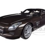 2010 Mercedes SLS AMG Gullwing 6.3L Brown Metallic Limited to 1008pc 1/18 Diecast Model Car by Minichamps