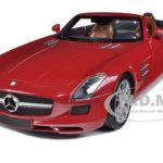 2011 Mercedes SLS AMG Roadster Red 1/18 Diecast Model Car by Minichamps