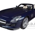 2011 Mercedes SLS AMG Roadster Blue Metallic 1/18 Diecast Car Model by Minichamps