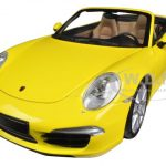 2012 Porsche 911 Carrera S Cabrio (991) Yellow Limited to 750pc 1/18 Diecast Car Model by Minichamps