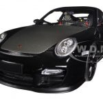 Porsche 911 (997 II) GT2 RS Black with Black Wheels 1/18 Diecast Model Car by Minichamps
