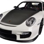 Porsche 911 (997 II) GT2 RS White with Black Wheels 1/18 Diecast Model Car by Minichamps