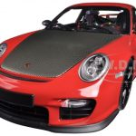 Porsche 911 (997 II) GT2 RS Red with Black Wheels 1/18 Diecast Model Car by Minichamps