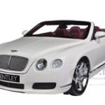 2006 Bentley Continental GTC White 1/18 Diecast Car Model by Minichamps
