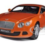2011 Bentley Continental GT Metallic Orange 1/18 Diecast Car Model by Minichamps