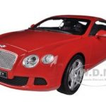 2011 Bentley Continental GT Red 1/18 Diecast Car Model by Minichamps