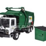 Mack Waste Management TerraPro Front Load Refuse Garbage Truck with Bin 1/34 Diecast Model by First Gear For Adult Collectors Display Purposes Only