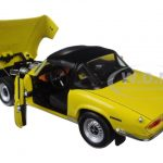 1970 Triumph Spitfire MK IV Closed Convertible Mimosa Yellow 1/18 Diecast Model Car by Sunstar