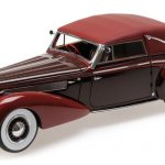 1939 Delage D8-120 Cabriolet Dark Red Limited to 1002pc 1/18 Model Car by Minichamps