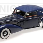 1939 Delage D8 120 Cabriolet Dark Blue Limited Edition to 130pcs 1/18 Model Car by Minichamps