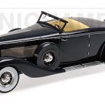 1936 Duesenberg SJN (Supercharged) Convertible Coupe Dark Blue Limited Edition to 140pcs 1/18 Model Car by Minichamps