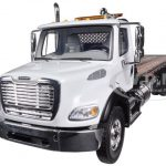 Freightliner M2 Flatbed Tow Truck with Jerr-Dan Rollback Carrier 1/34 Diecast Model by First Gear