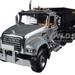 Mack Granite with Tub Style Roll Off Container Silver/Black 1/34 Diecast Model by First Gear