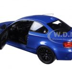 2011 BMW 1 M Coupe Blue Metallic Limited Edition to 504pcs 1/18 Diecast Model Car by Minichamps