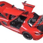 2013 Mercedes SLS AMG Black Series Red Limited Edition to 350pcs 1/18 Diecast Model Car by Minichamps