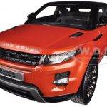 Range Rover Evoque Orange 2 Doors 1/18 Diecast Car Model by Welly