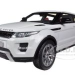 Range Rover Evoque White With White Roof 1/18 Diecast Car Model by Welly