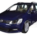 2010 Volkswagen Sharan Metallic Blue Limited to 1002pc 1/18 Diecast Model Car by Minichamps