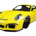 2013 Porsche 911 GT3 (991) Yellow with Black Wheels Limited Edition to 300pcs 1/18 Diecast Model Car by Minichamps