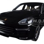 2014 Porsche Cayenne Turbo S Black Metallic Limited Edition to 1500pcs 1/18 Diecast Model Car by Minichamps